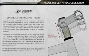 adjustable stem