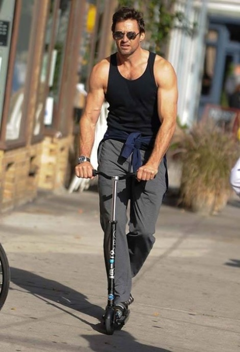 hugh-jackman-on-micro-electric-scooter